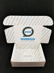 Oswego, IL welcome box interior by Salazar Packaging